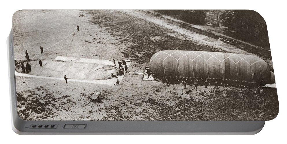 1914 Portable Battery Charger featuring the photograph World War I: Balloon by Granger