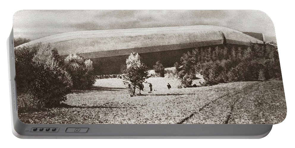 1914 Portable Battery Charger featuring the photograph World War I: Zeppelin by Granger