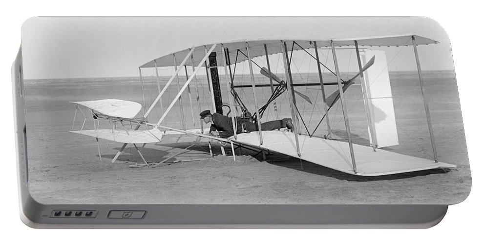1903 Portable Battery Charger featuring the photograph Wright Brothers Glider by Granger
