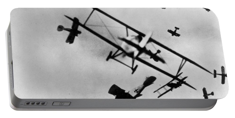 1910s Portable Battery Charger featuring the photograph Wwi: Dogfight by Granger
