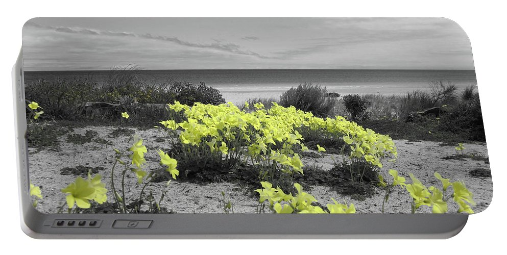 Flowers Portable Battery Charger featuring the photograph Yellow by Douglas Barnard