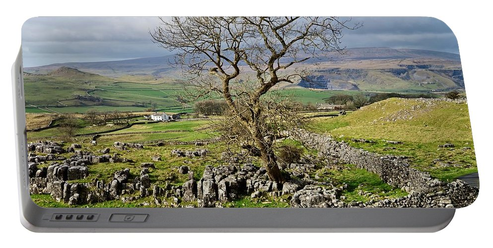 Yorkshire Dales Portable Battery Charger featuring the photograph Yorkshire Dales Landscape by Martyn Arnold