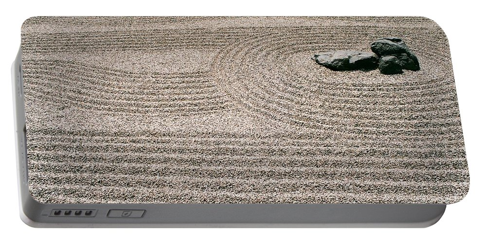 Zen Portable Battery Charger featuring the photograph Zen Garden by Dean Triolo
