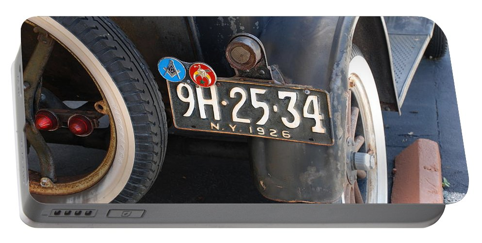 Numbers Portable Battery Charger featuring the photograph 1926 Model T Ford by Rob Hans