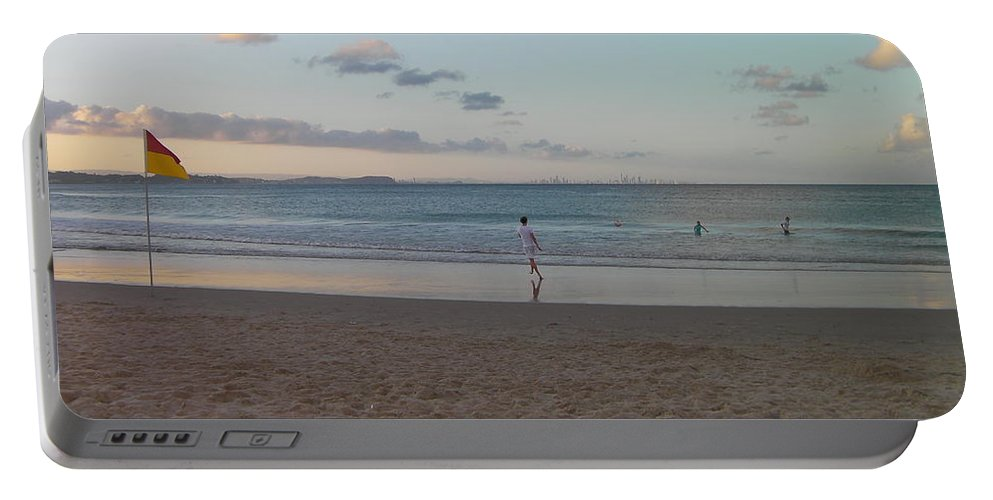 Australia Portable Battery Charger featuring the photograph Australia - Calm Seas At Greenmount Beach by Jeffrey Shaw