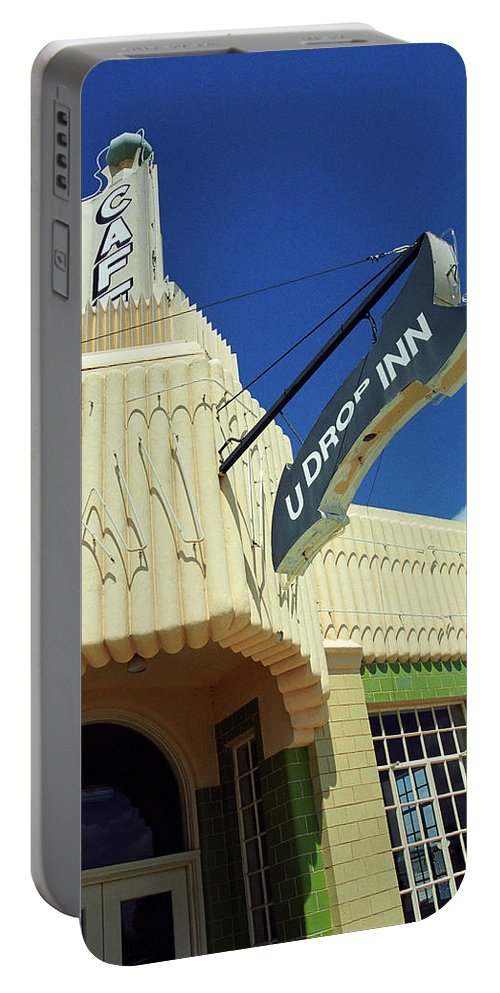 66 Portable Battery Charger featuring the photograph Route 66 - Conoco Tower Station by Frank Romeo