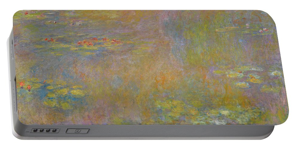 Water Lilies Portable Battery Charger featuring the painting Water Lilies by Claude Monet