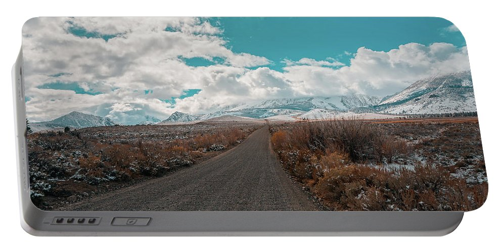 Road Portable Battery Charger featuring the photograph 11/04/2015 by Joshua Hernandez