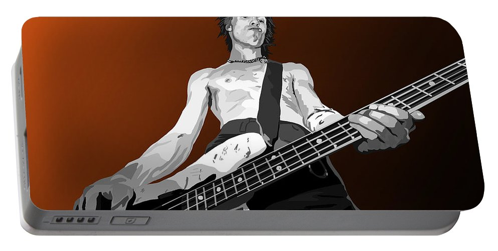 Sid Vicious Portable Battery Charger featuring the digital art 116. S.v by Tam Hazlewood