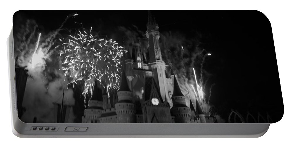 Walt Disney World Portable Battery Charger featuring the photograph Cinderella Castle by Rob Hans