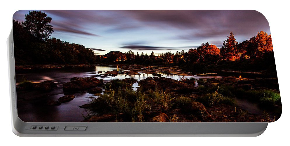 Portable Battery Charger featuring the photograph Elkton River by Angus Hooper Iii