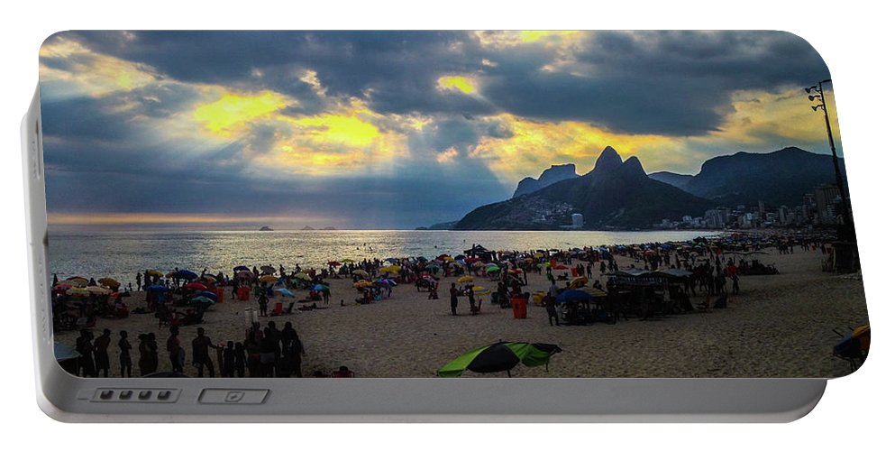 Ipanema Portable Battery Charger featuring the photograph Ipanema Beach by Cesar Vieira