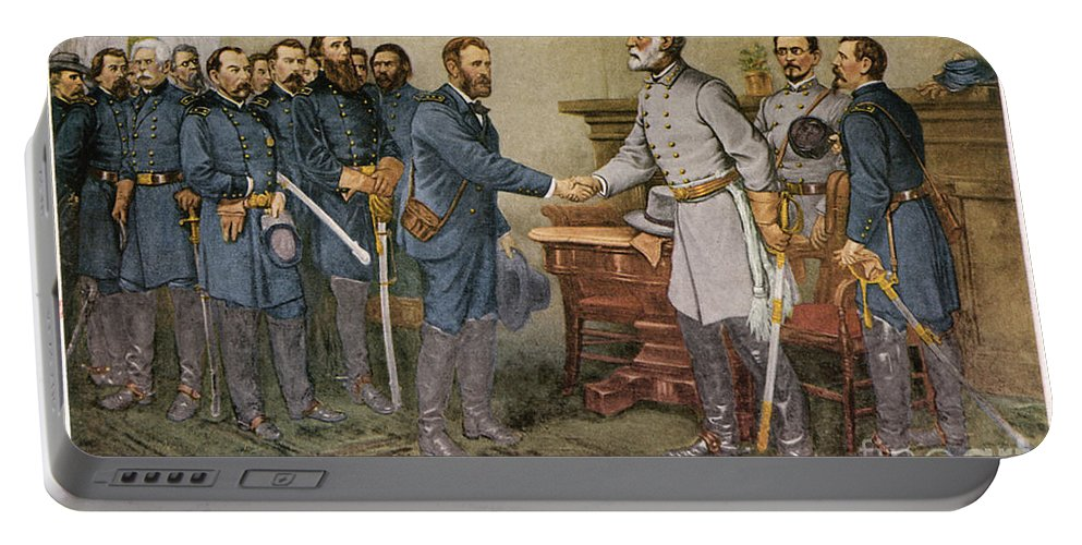 1865 Portable Battery Charger featuring the photograph Lees Surrender 1865 by Granger
