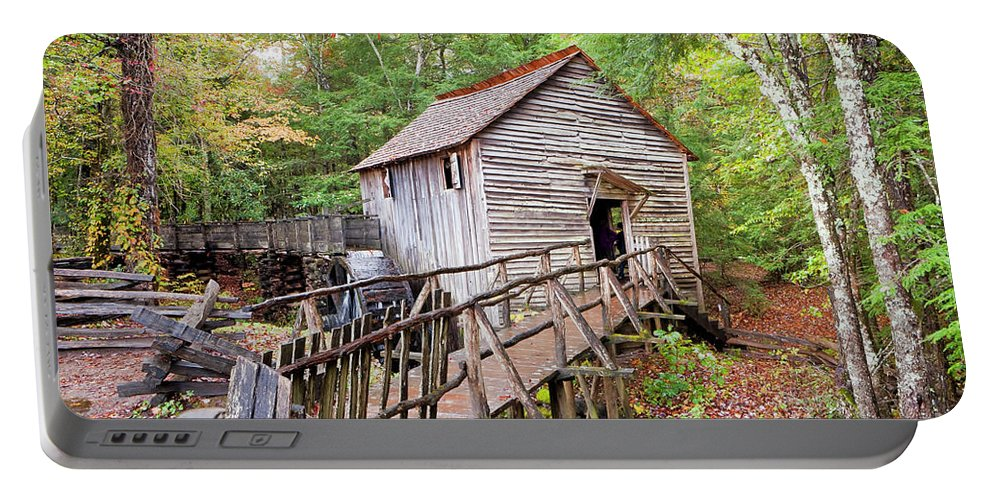 Great Portable Battery Charger featuring the photograph 1267 Great Smoky Mountain Cable Mill by Steve Sturgill Photography