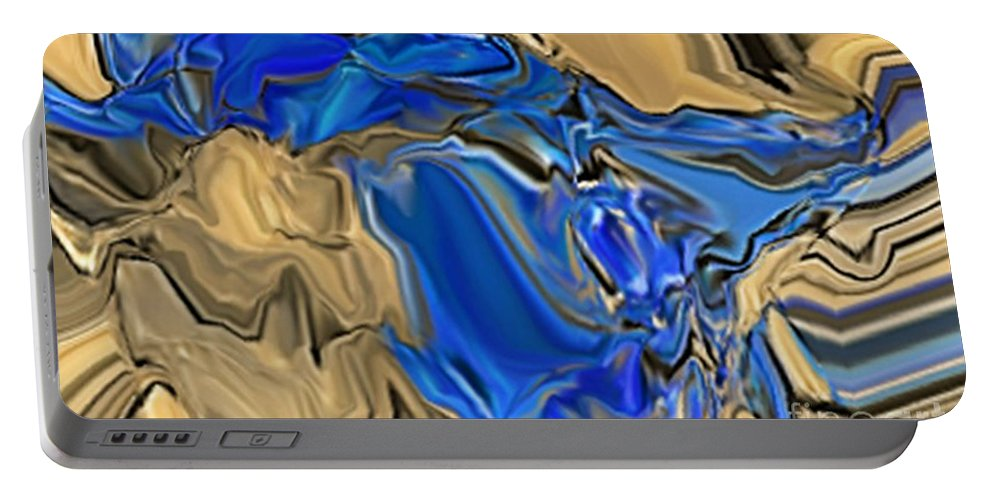 Abstract Portable Battery Charger featuring the digital art 1297exp6 by Ron Bissett