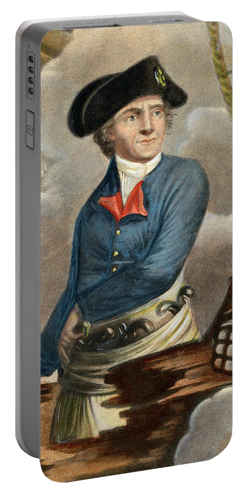 1779 Portable Battery Charger featuring the drawing John Paul Jones, 1747-1792 by Granger