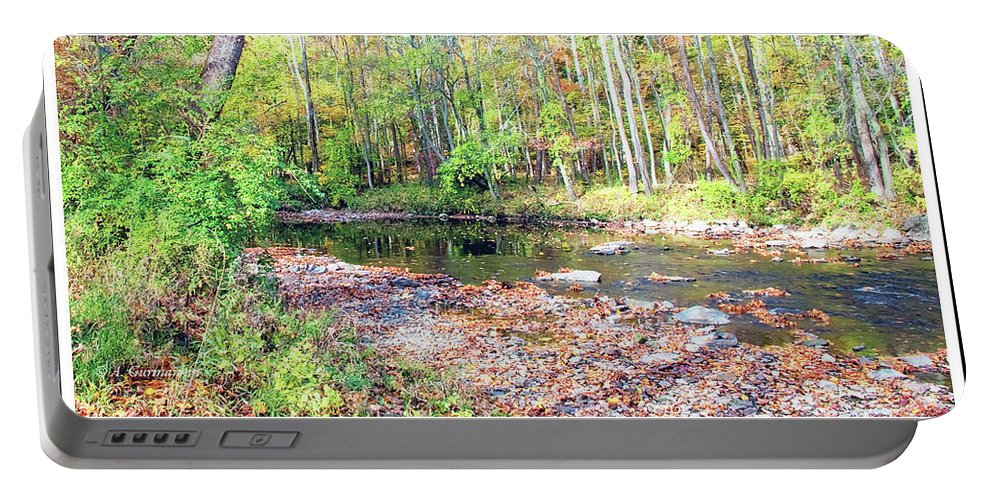 Stream Portable Battery Charger featuring the photograph Pennsylvania Stream In Autumn by A Gurmankin