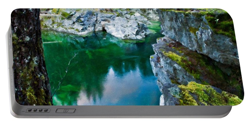 C Portable Battery Charger featuring the digital art R G Landscape by Malinda Spaulding