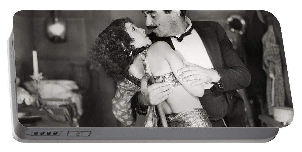 1920s Portable Battery Charger featuring the photograph Silent Still: Man & Woman by Granger
