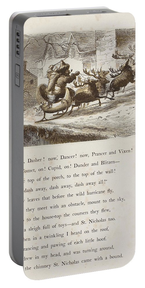 1862 Portable Battery Charger featuring the photograph Night Before Christmas by Granger