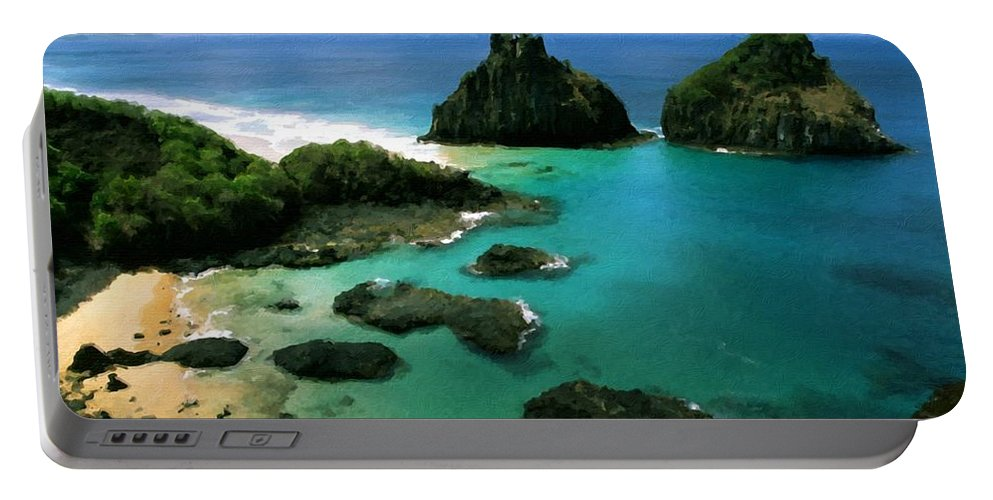 Nature Portable Battery Charger featuring the digital art Poster Landscape by Malinda Spaulding