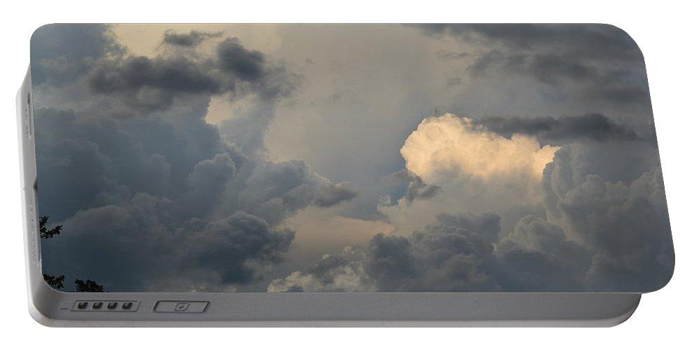 Landscape Portable Battery Charger featuring the digital art SKY by Erin Schuettler