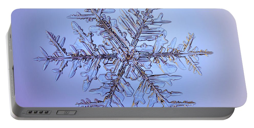 Snow Portable Battery Charger featuring the photograph Snowflake by Ted Kinsman
