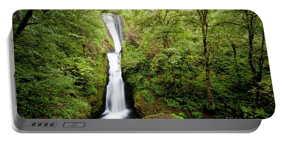 Bridal Portable Battery Charger featuring the photograph 1418 Bridal Veil Falls by Steve Sturgill