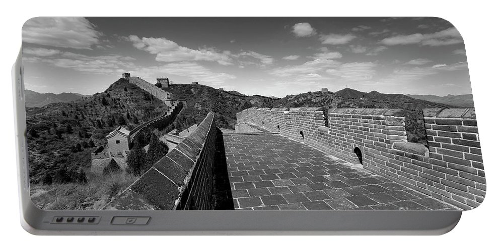 Jinshanling Village Portable Battery Charger featuring the photograph The Great Wall Of China Near Jinshanling Village, Beijing by Dave Porter