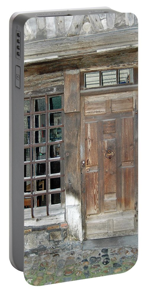 Paris Portable Battery Charger featuring the photograph French Doors by Mary Tuomi