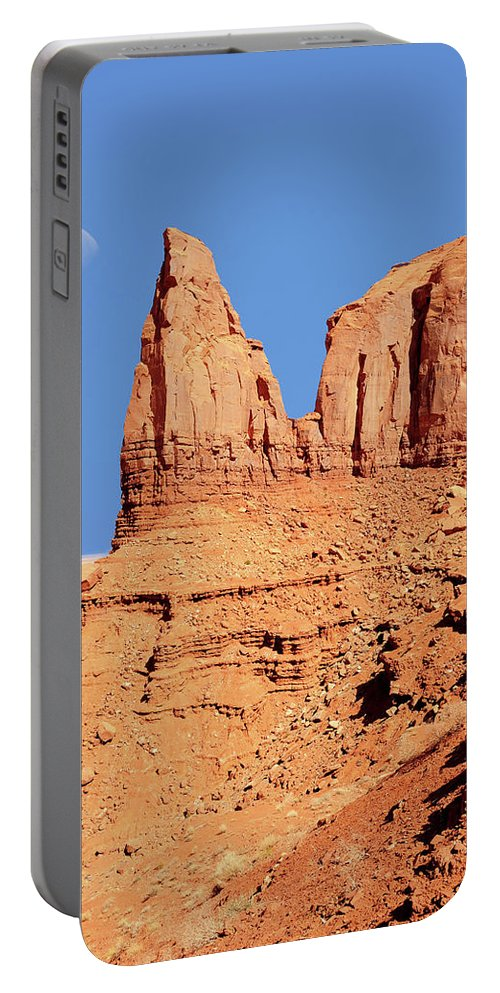 Moon Portable Battery Charger featuring the photograph Monument Valley by Paul Moore