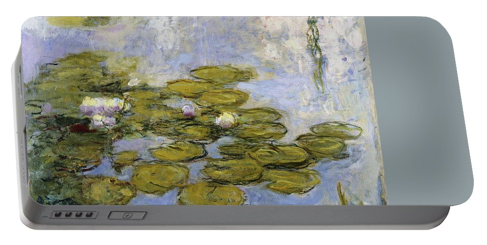 Claude Monet Portable Battery Charger featuring the painting Nympheas by Claude Monet