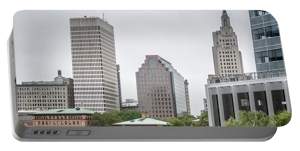 Providence Portable Battery Charger featuring the photograph Providence Rhode Island City Skyline In October 2017 by Alex Grichenko