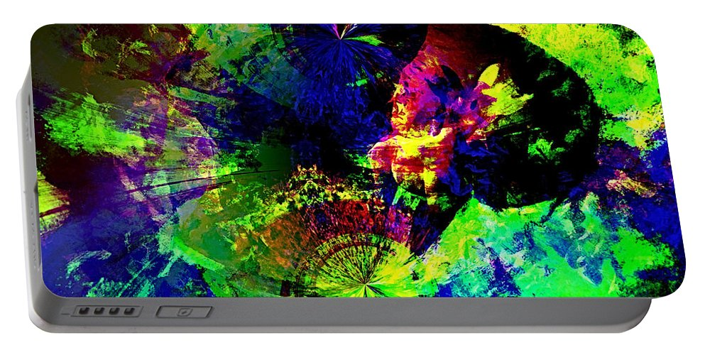 Abstract Urban Art Portable Battery Charger featuring the digital art Abstract by Galeria Trompiz