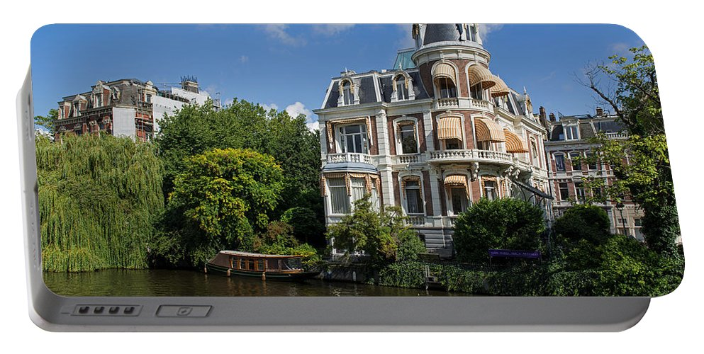 Canals Of Amsterdam Portable Battery Charger featuring the photograph Canals Of Amsterdam by Yefim Bam