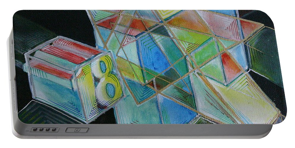 Drawing Portable Battery Charger featuring the painting 18 by Gideon Cohn