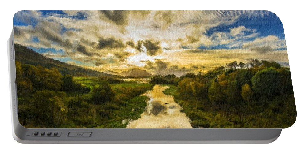 New Portable Battery Charger featuring the digital art Landscape Color by Malinda Spaulding