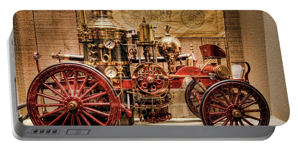 Hdr Portable Battery Charger featuring the photograph 1870 Lafrance by Brad Granger