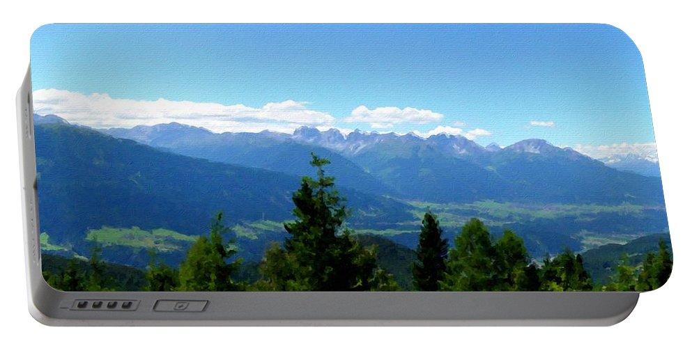 Fine Portable Battery Charger featuring the digital art K Landscape by Malinda Spaulding