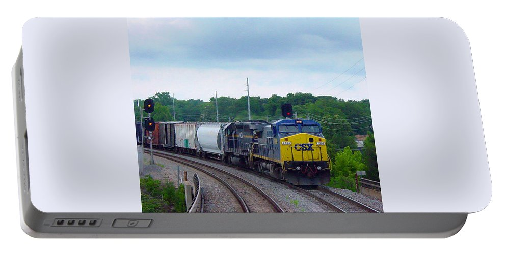 Pat Turner Portable Battery Charger featuring the photograph 19 Mile Post by Pat Turner