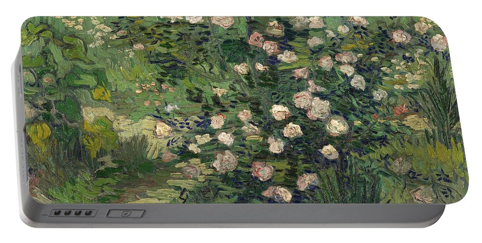 Dutch Portable Battery Charger featuring the painting Roses by Vincent van Gogh