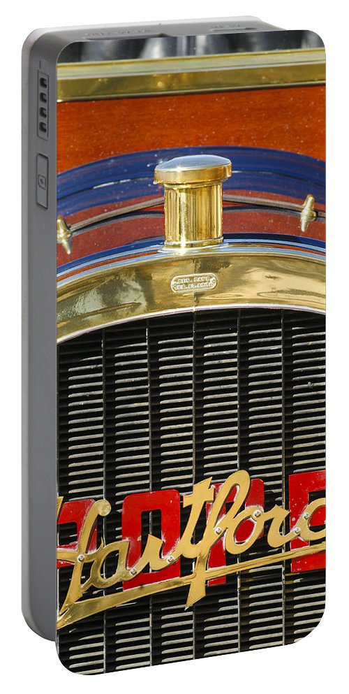 1910 Pope Hartford T Portable Battery Charger featuring the photograph 1910 Pope Hartford T Hood Ornament by Jill Reger