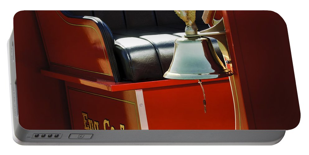 1919 Ford Model T Portable Battery Charger featuring the photograph 1919 Volunteer Fire Truck Eng. Co. 7 by Jill Reger