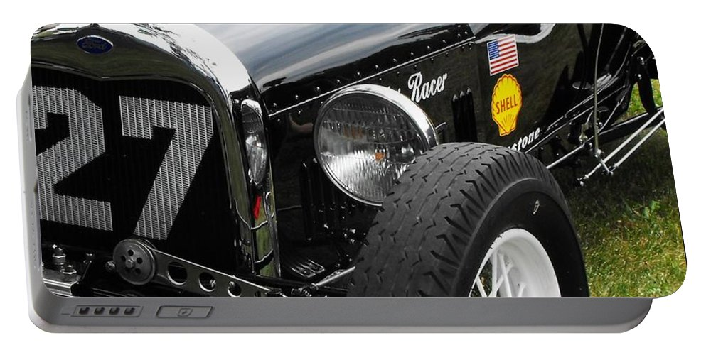 Ford Portable Battery Charger featuring the photograph 1920-1930 Ford Racer by Neil Zimmerman