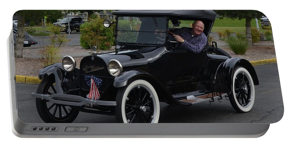 1922 Portable Battery Charger featuring the photograph 1922 Roadster Scharf by Mobile Event Photo Car Show Photography