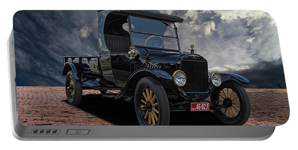 1923 Portable Battery Charger featuring the photograph 1923 Model T Ford Truck by Nick Gray