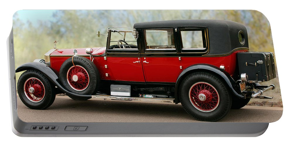 Classic Car Portable Battery Charger featuring the photograph 1928 Rolls-royce Phantom 1 by Jill Reger