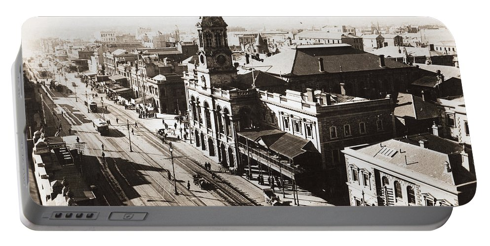 Adelaide Portable Battery Charger featuring the photograph 1928 Vintage Adelaide City Landscape by Jorgo Photography - Wall Art Gallery