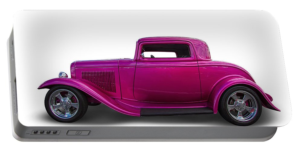 1932 Portable Battery Charger featuring the photograph 1932 Ford Custom Hot Rod by Nick Gray