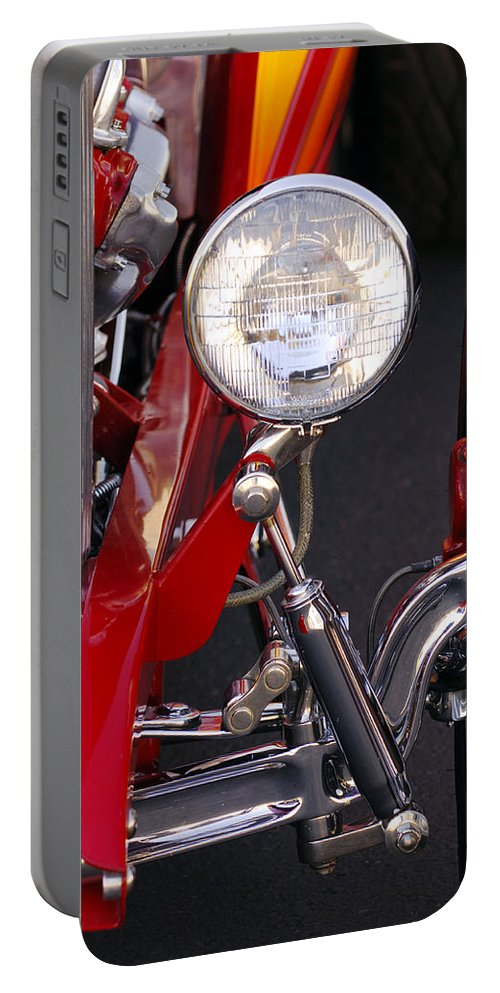 Car Portable Battery Charger featuring the photograph 1932 Ford Hi-boy Roadster Headlight by Jill Reger